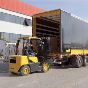 Camion Montacargas Mercadería Logistica